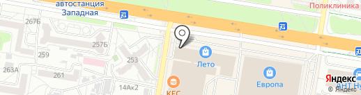Макдоналдс на карте Барнаула