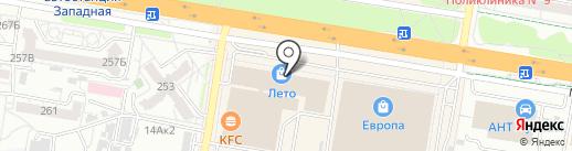 Сеть магазинов дамского белья и колгот на карте Барнаула