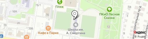 Пляж в Парке на карте Барнаула