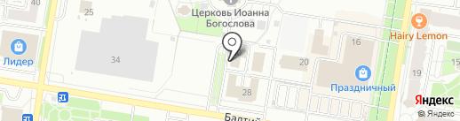 Бизнес Эталон на карте Барнаула