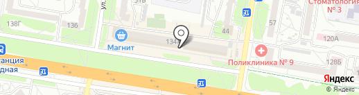 Перекрёсток22 на карте Барнаула