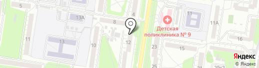 Артамеб на карте Барнаула