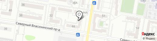 Лазурь на карте Барнаула