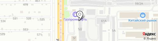 Рекламно-производственная компания на карте Барнаула