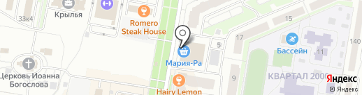 Сеть магазинов табачных изделий на карте Барнаула