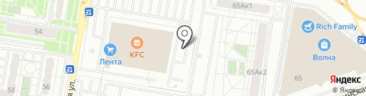 Автомойка самообслуживания на карте Барнаула