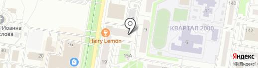 Магазин секонд-хенд и стоковой одежды на карте Барнаула