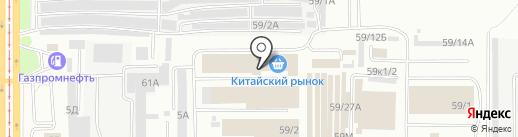 Подвенечный на карте Барнаула