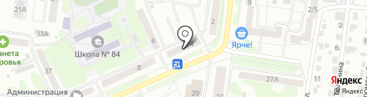 Фотон на карте Барнаула