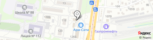 ПИФФКОВ на карте Барнаула