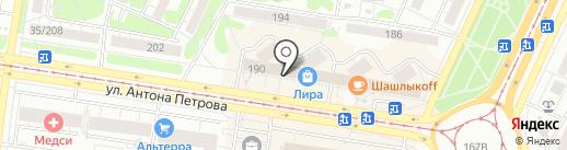 ТРУДОВЫЕ РЕЗЕРВЫ на карте Барнаула