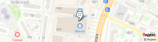 Восточный караван на карте Барнаула