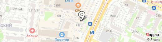 Склад-магазин на карте Барнаула