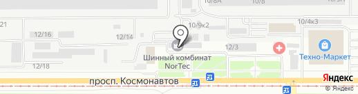 На Колесах на карте Барнаула