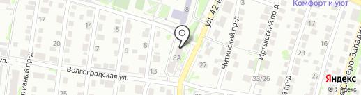 Валеологический центр на карте Барнаула