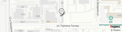 БиК на карте Барнаула