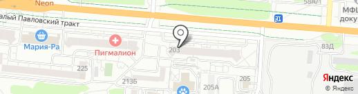 РОКС на карте Барнаула