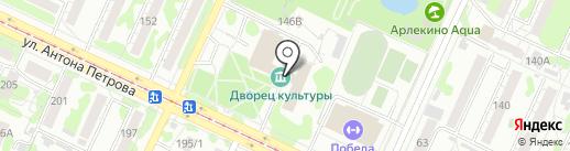 Василёк на карте Барнаула