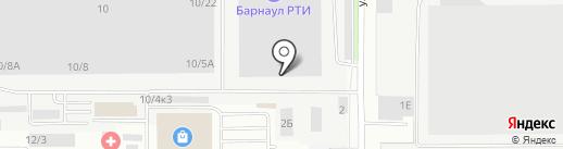Ярослав на карте Барнаула