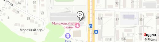 Пивная карта на карте Барнаула