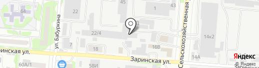 Брёвенград на карте Барнаула