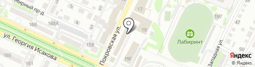 Магазин автозапчастей для ГАЗ, Газель на карте Барнаула
