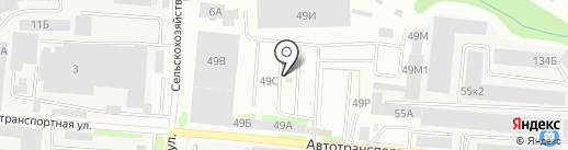 Энсима на карте Барнаула