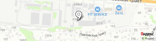 Vintage на карте Барнаула
