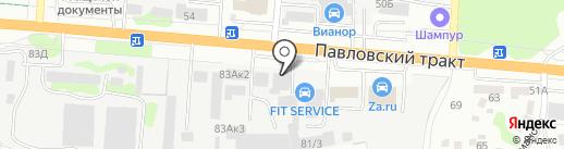 Магазин автомобильных клипс на карте Барнаула