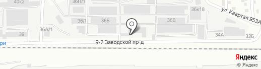 РАТЭК на карте Барнаула