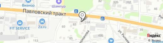 Магазин автозапчастей на грузовые автомобили МаЗ, КамаЗ, Урал на карте Барнаула