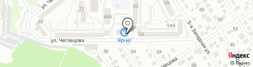 Бар на карте Барнаула