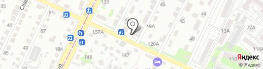 На крючке на карте Барнаула