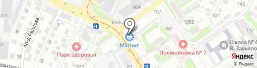 Адвокатский кабинет Белых А.Б. на карте Барнаула