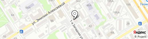 Пакпластика на карте Барнаула