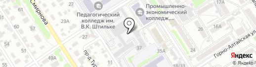 За рулем на карте Барнаула