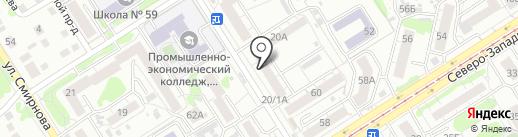 Хлебница на карте Барнаула