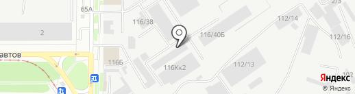 Ковростир на карте Барнаула