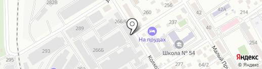 Лазер на карте Барнаула