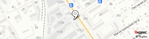 Юникс-Строй на карте Барнаула