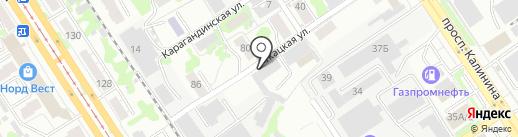 Авто почта на карте Барнаула