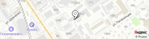 Светофор на карте Барнаула