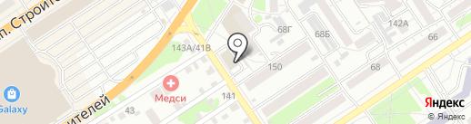 Система ГАЛС на карте Барнаула