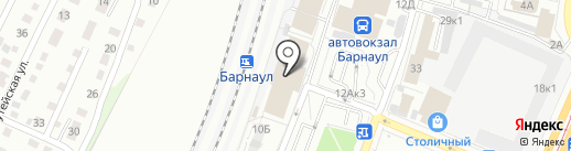 Осень на карте Барнаула