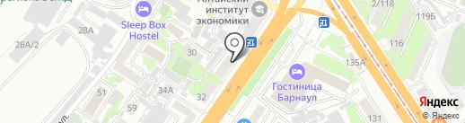 Комплектующие на карте Барнаула