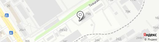 Ландора на карте Барнаула