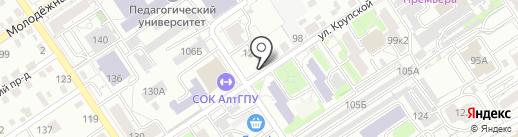 Кафе узбекской кухни на карте Барнаула