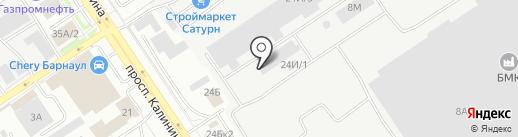 Фавор на карте Барнаула