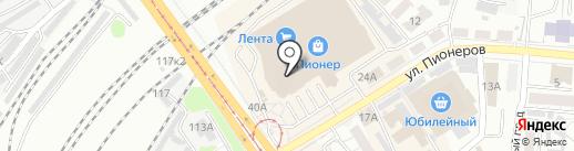 Yota на карте Барнаула