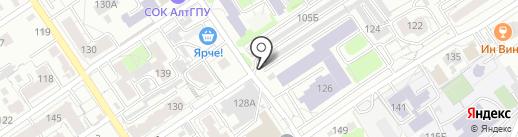 ГСК-782 на карте Барнаула